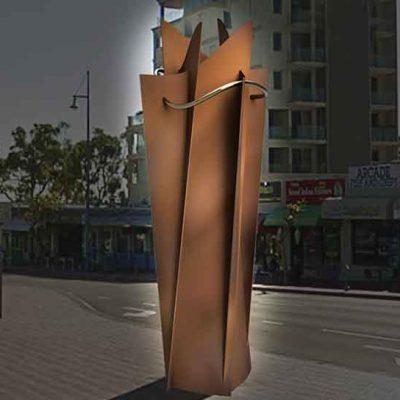 Public Art Clock Tower